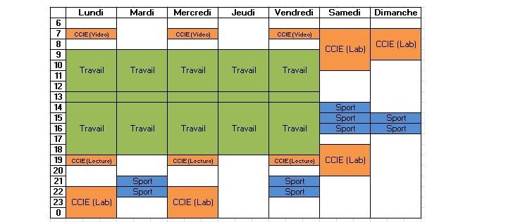 Planning semaine partielle CCIE